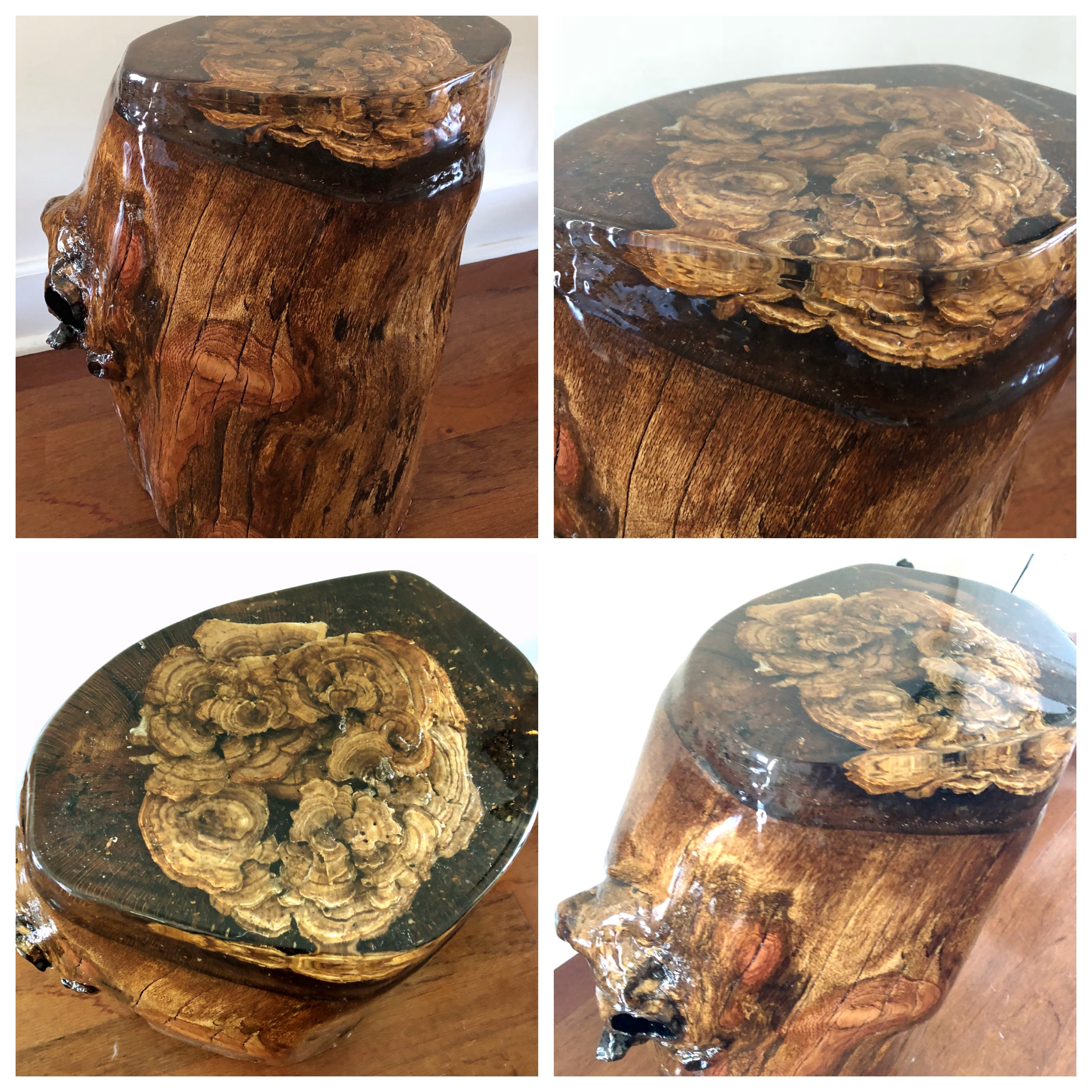 Oak Stump with Resin Top