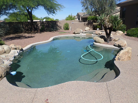 Old Pebble Tec Pool before we did the pool remodel in Paradise Valley