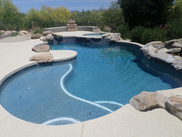 Pool Remodel in Rio Verde with Blue Surf Pebble Sheen