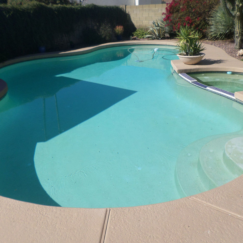 Old Plaster Pool Before Remodeling