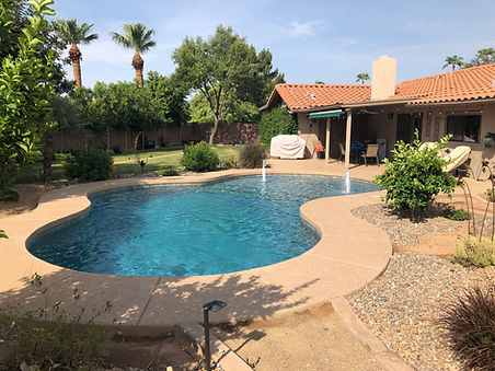 Diving Pool Remodel with Pebble Sheen, New Waterline Tile and Water Feature