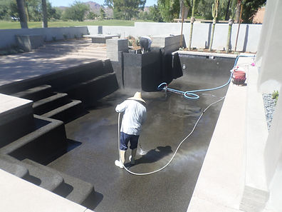 Swimming Pool Repair acid washing the pool after a chlorine rinse. The pool pump didnt prime so we fixed the motor.