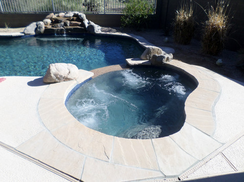Swimming Pool Remodel with Blue Granite Pebble Sheen