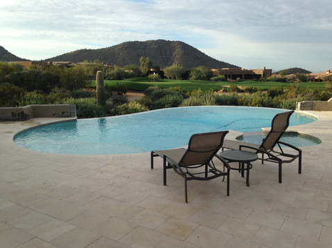 Pool Remodel in Scottsdale with Cool Blue Pebble Sheen