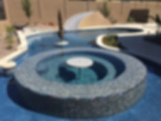 Swimming Pool Service & Repair all tile spa instead of a pool resurface or pool plaster in Cave Creek.