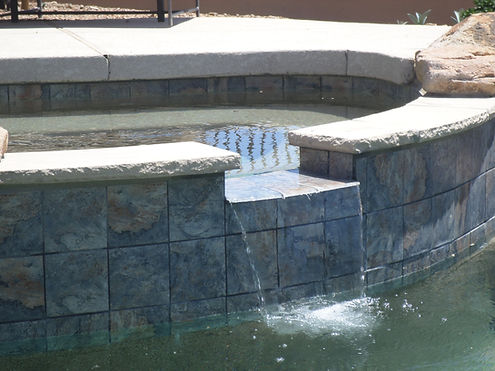 Swimming Pool Service& Repair in Phoenix repairs tile on spillways. We are experts in pool tile repair.