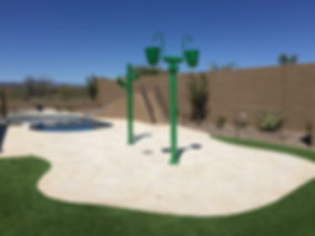Dumping Buckets, Swimming Pool, Splash Pad, Cave Creek Arizona.
