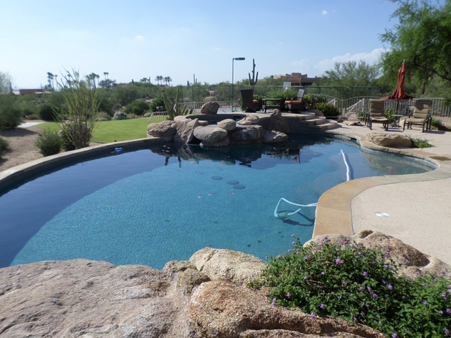 Swimming Pool Remodel with Flagstone Accent