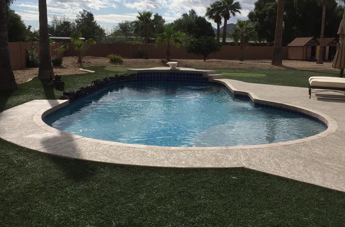 Remodel in Scottsdale where we added a Sun Shefl / Baja Shelf