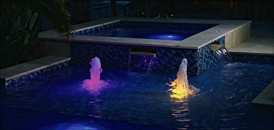 Pentair Color Vision Globrite LED Pool Lights in Action!