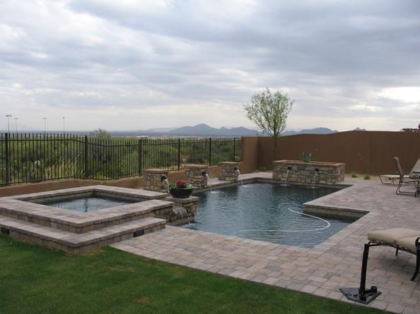 Swimming Pool Remodel with Pebble Sheen Blue Granite