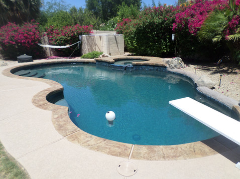 Pool Remodel in Glendale, AZ with New Deck, Acrylic Accent and Turtle Bay Pebble Sheen