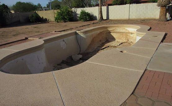 Swimming Pool Remodel Before Old Plaster Cracked Plaster Peeling