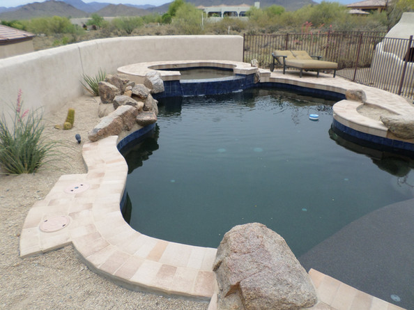 Swimming Pool Remodel with Rolled Bond Beam Conversion
