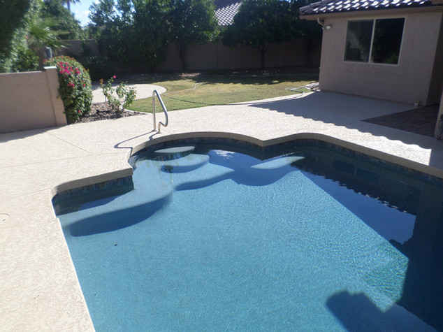 Swimming Pool Remodel with Prism Blue Pebble Sheen