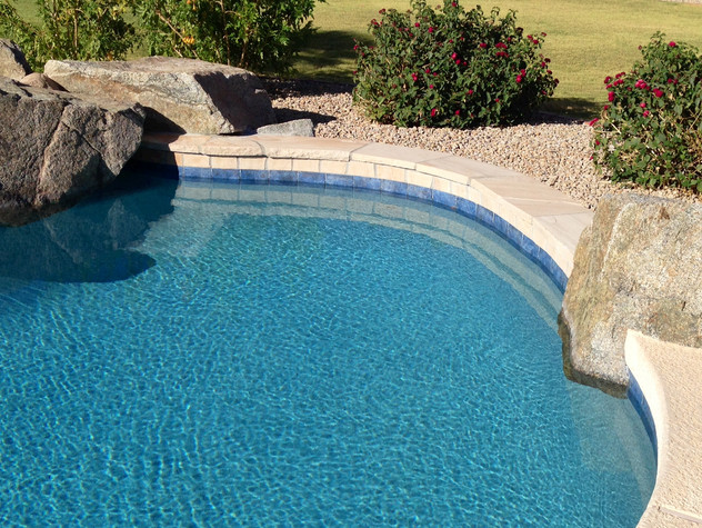 Swimming Pool Resurface with Blue Lagoon Pebble Tec