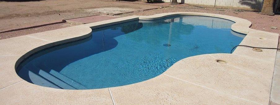 Blue Surf Pebble Sheen add Luminous Blue Glass Swimming Pool