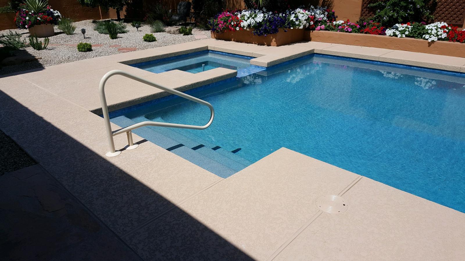 Swimming Pool Remodel with Aqua Blue Pebble Sheen, Saftron ...