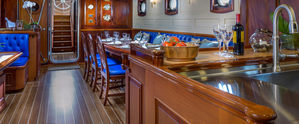 The Salon: looking aft