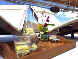 Deck Lounger Drinks