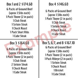 example of beef boxes