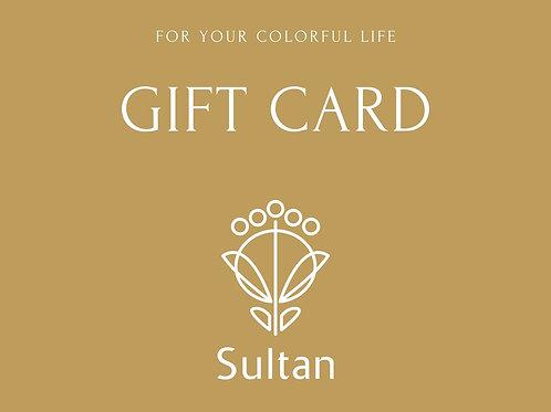 Sultanギフトカード_Gold