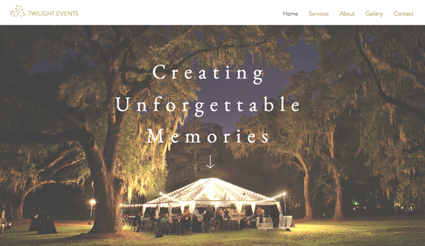 Svatby a oslavy website templates – Event Planners