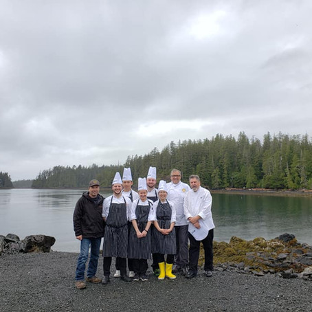 Culinary Team BC cooks in Kyuquot Sound