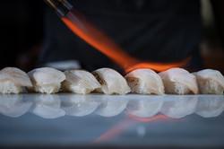 Gindara sablefish nigiri aburi style