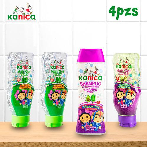 Kanica Kit de Peinados con Estilo de Gel y Shampoo