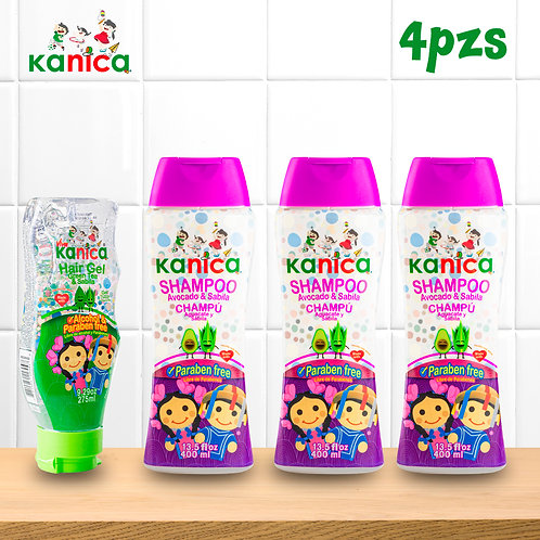 Kanica Kit Cabello Limpio de Gel y Shampoo