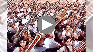 Orchestre de 1 094 sitars