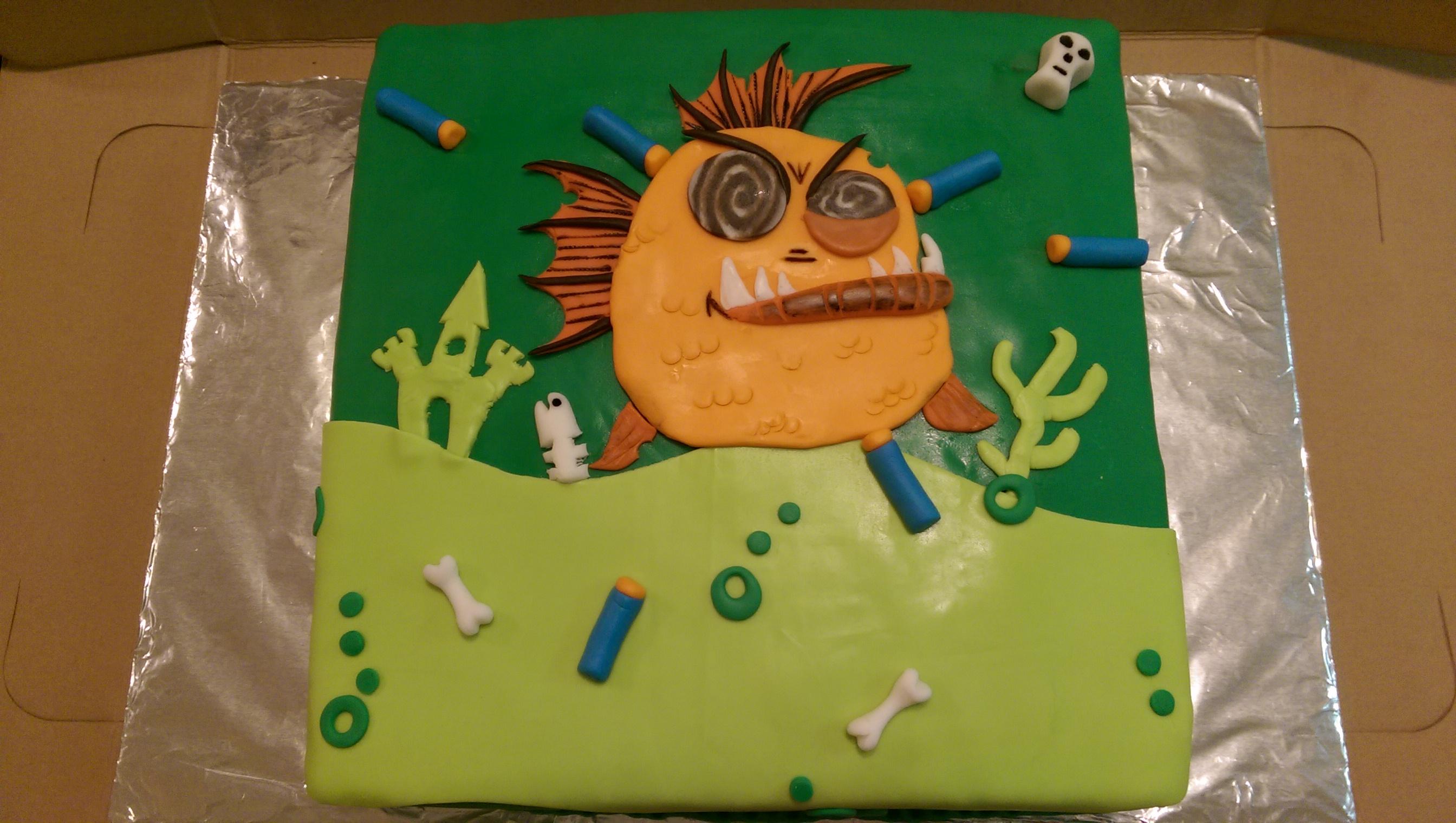 Zombie-Fish-Nerf Cake