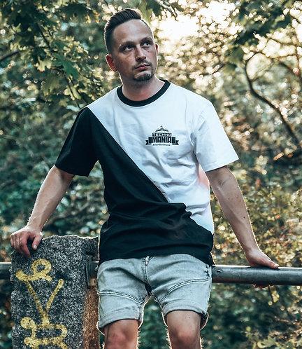 Technomania Asymmetric Oversized Logo T-Shirt