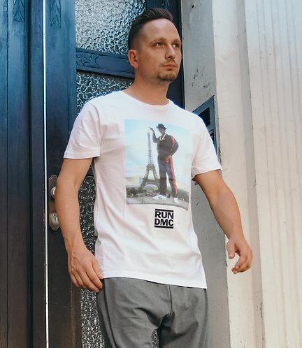 Run DMC Paris T-Shirt weiß