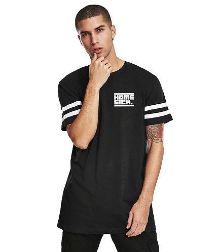 Homesick Stripe Logo Longshirt schwarz