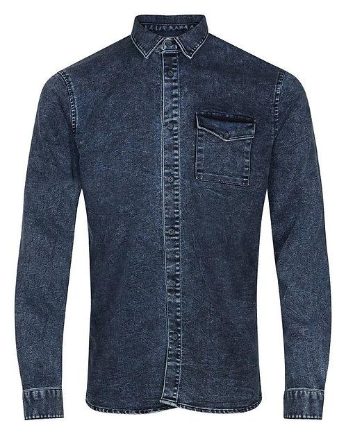Anerkjendt Rukoling Denim Shirt blau