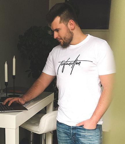 Tiefundton Logo T-Shirt weiß