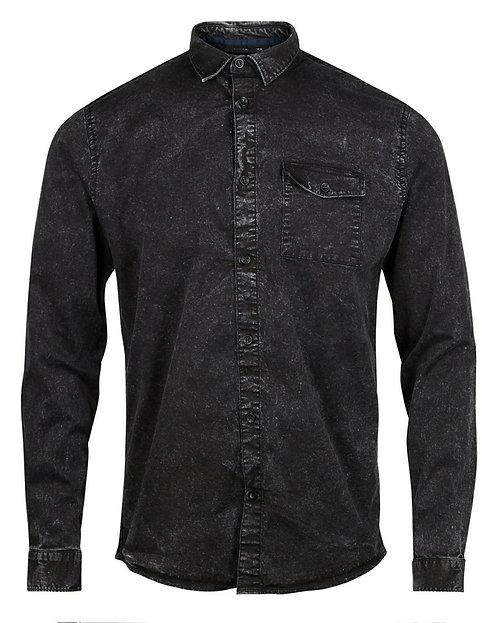 Anerkjendt Reminko Denim Shirt schwarz