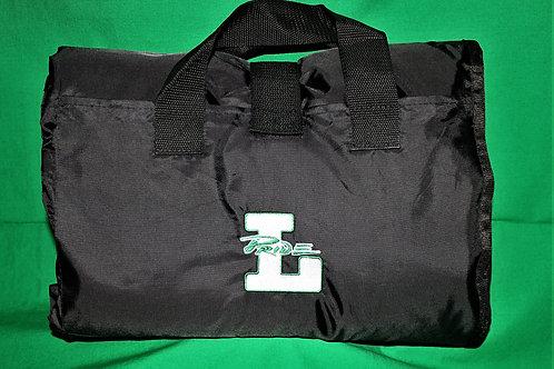 Leesville Picnic Blanket, Alpine Fleece/Nylon, Black/Navy Size: 50 x 60