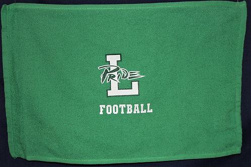 Leesville Pride Rally Towel, 100% cotton, Kelly green