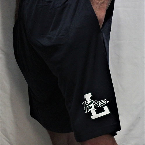 """Pride Performance Shorts, Unisex, 50% polyester; 25% cotton; 25%rayon, 9"""" inseam"""