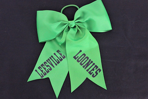 Leesville Loonies Hair Bow: Kelly Green, Qty.1