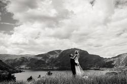 Bryllupsfoto på vestlandet