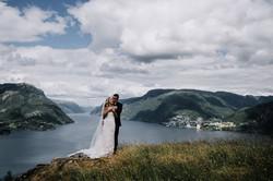 Bryllupsbilde på vestlandet