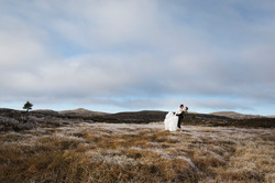 Brudebilde i nydelige omgivelser