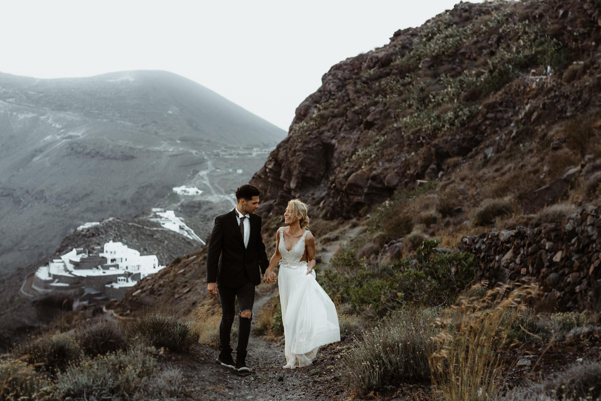 Bryllupsbilde fra Santorini