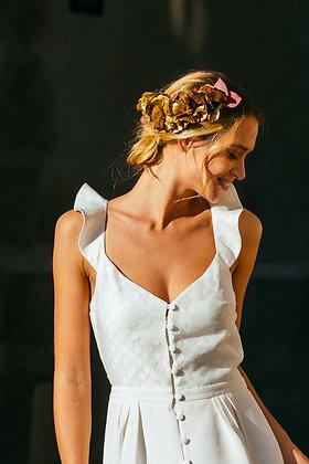 Peigne fleur mariée