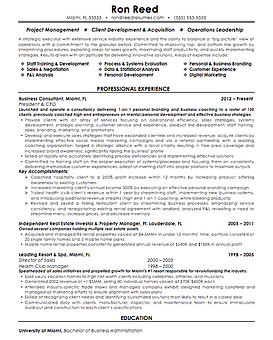 Resume writing samples resume sample from long island resume writer ron reed yelopaper Images