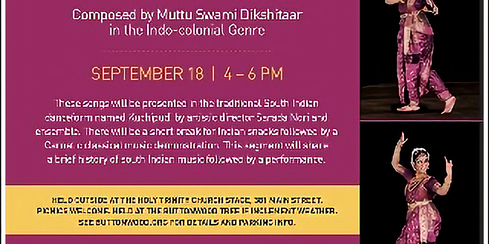 Kuchipudi Dance on Indo-Colonial melodies hosted by The Buttonwood Tree Performing Arts Centre